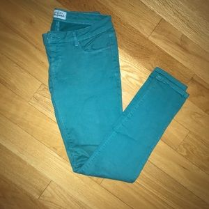 Teal jeans from Aeropostale